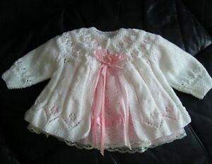 about Girls Baby Matinee Jacket Knitting Pattern - Out of Print