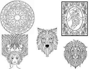 Adult Coloring Note Cards and Envelopes - Set 2