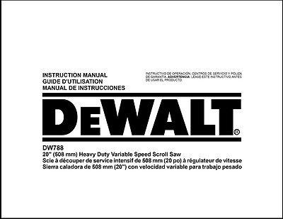 Dewalt Dw788 Scroll Saw - Dewalt 20