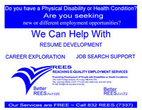 Do you have a Disability? Health Condition? Looking for Work?