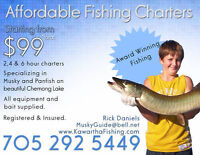 Muskie - Bass - Panfish - Guided Fishing Charters from $99!