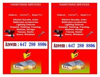 Handyman Services, renovation, restoration, improvements, instal