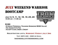 JULY Weekend Warrior Bootcamp