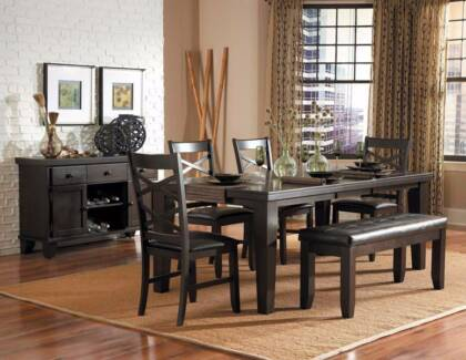 SALE 7 Pce Hawn Dining Table Chairs Was
