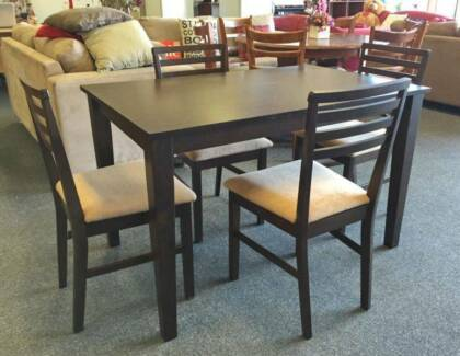 DELIVERY TODAY 5 pieces MODERN dining table CHOCOLATE BROWN color Perth Region Preview