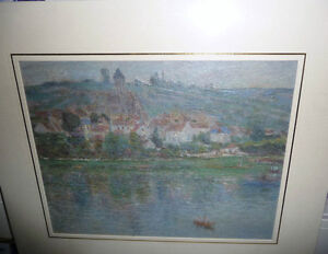 "Claude Monet ""Vetheuil"" Painted 1901 Textured Art Print Stratford Kitchener Area image 3"