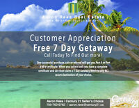 Buy/Sell/Refer and Earn a FREE Getaway