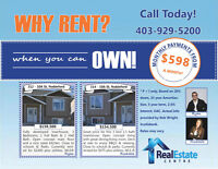 WHY RENT ? When you can own ?