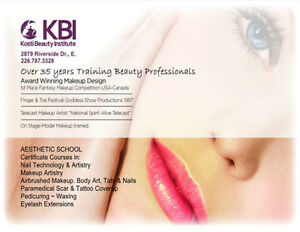 AESTHETIC SCHOOL CLASSES-Airbrushed Makeup Artistry-Nails-Pedi Windsor Region Ontario image 1