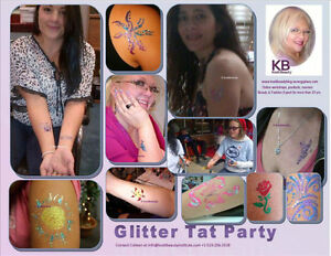 HENA, GLITTER TAT, AND AIRBRUSHED TATTOO  PARTY Windsor Region Ontario image 4