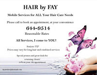 Hair by Fay Mobile Hair Care Services Saint John and Surrounding