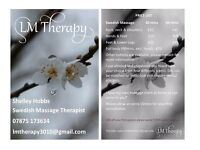 Qualified Swedish Massage Therapist (no extras)