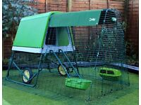 Eglu Go Up with run chicken home house coop
