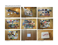 Offering 318 coasters from all over the world. Now reduced price