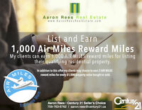List and Earn 1000 Air Miles Upon Closing