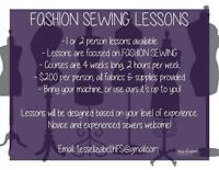 Fashion Sewing Lessons - Learn to Design & Sew Your Own Clothes!