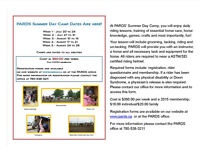 PEACE AREA RIDING FOR THE DISABLED SOCIETY SUMMER CAMPS