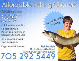 Kawartha Guided Fishing Charters starting @ $99 & Musky - Bass