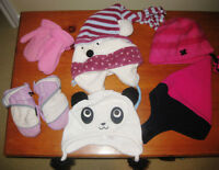Girls Winter Toques and Mittens