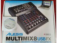 Alesis Multimix 8 USB FX Mixing Desk