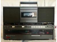 Panasonic SG-J555L Ghettoblaster. Plays Vinyl and Cassette. In Good Working Order.