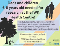 Dads and children 6-8 years old needed for research!