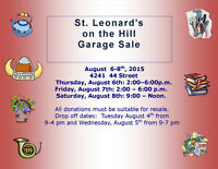 St. Leonard's Anglican Church Garage Sale