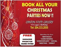 Book all your Christmas Parties Now