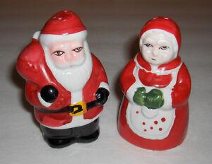 KITSCH! Père et Mère Noël Ensemble Salière Poivrière