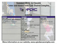 Summer Drop In Classes - EPIC DANCE COMPLEX