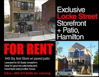 Unique Storefront with Patio for Lease on Locke Strèet South