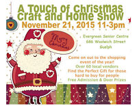 Guelph Christmas Craft show- Vendor Space available