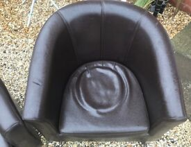 2 x USED BUCKET or TUB CHAIRS ONLY £20.00 Delivered
