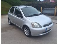 **WILL BE SOLD TODAY+LOW MILES+FULL S/HISTORY**TOYOTA YARIS CDX 1.3 PETROL 5 DR (2002 YEAR)**