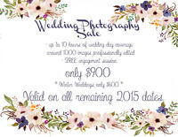 Wedding Photography Sale - Only $900!