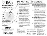 2016 Peter Schneider Concert Series
