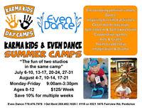 Summer Karma Kids Day Camps ~ Get Bent & Even Dance