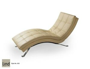 LIND canadian made Leather Lounger 42% OFF