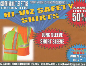 COVERALL QUALITY  -  !!!! HI-VIZ SAFETY SHIRTS !!!!