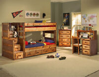 Solid Pine Twin / Twin or Twin / Full Bunk Beds!