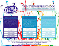 TOM THUMB PRESCHOOL, VANCOUVER - AFTERNOON SPACES AVAILABLE