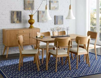 SALE 7 Pce Anika Dining Table Chairs Was