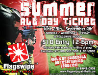 CHEAP PAINTBALL ALL SUMMER LONG AT FLAGSWIPE INDOOR!