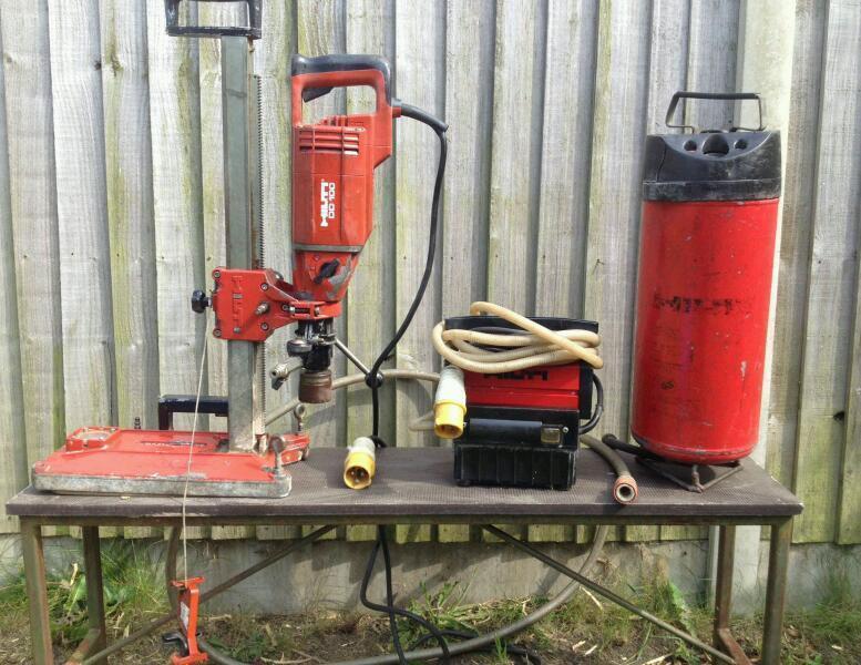 Hilti Dd100 Diamond Drilling Core Drill With Stand Vacuum