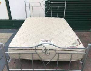 Excellent queen bed metal frame & double-sided Pillow Top mattres Kingsbury Darebin Area Preview