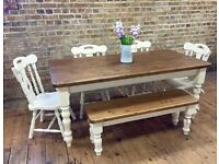 Farmhouse table, chairs and benches - Essex