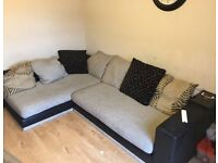 House clearance, must go on Friday 29th July, corner sofa, coffee table , glass tv stand.