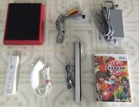 Wii Mini_ With All Cords / Controller / Nunchuk & Game