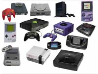 Looking for any nintendo/sega/playstation/xbox consoles and games