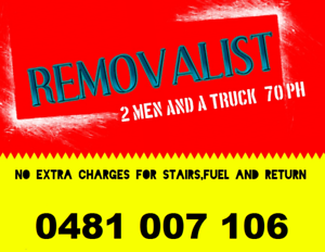 COST EFFECTIVE ,SUITS YOUR BUDGET- REMOVALIST